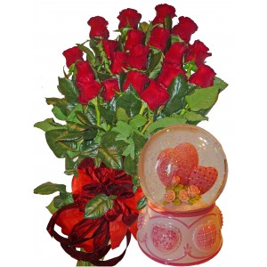 My sweet love - Roses and water globe