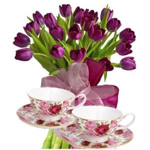 Agatha # 1- Flowers & Tea-Cups