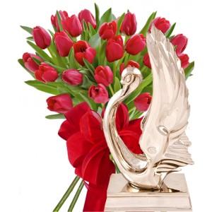 Monica # 3 - Flowers & Statuette