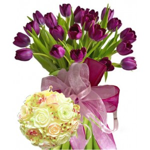 Agatha # 4 - Flowers & Candle