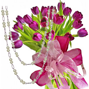 Agatha # 5 - Tulip bouquet and Necklace