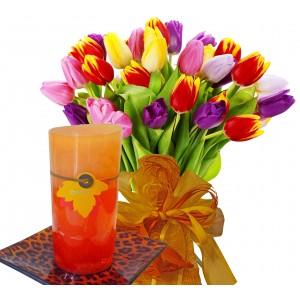 Ida # 5 - Flowers and Candle Set