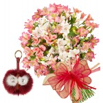 Aurora # 2 - Bouquet and Key chain Red Owl