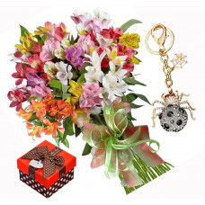 Zoe # 2 - Bouquet and Key chain Spider