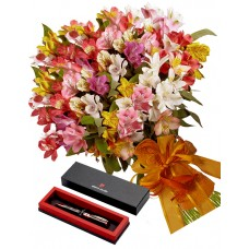Malaysia # 2 - Bouquet and Pierre Cardin Pen