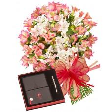 Aurora # 3 - Bouquet, Notepad and Pen Set