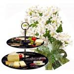 Amelia # 3 - Bouquet and 2 Tier porcelain plates