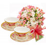Aurora # 5 - Bouquet and Set of 2 cups & plates - LANCASTER