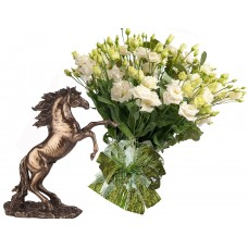 Sophia # 8 - Bouquet and  Stallion - Statute Veronese