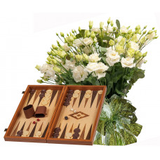 Sophia # 9 - Bouquet and Wood Backgammon Vertini