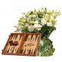 Sophia # 9 - Bouquet and Wood Backgammon Vertini
