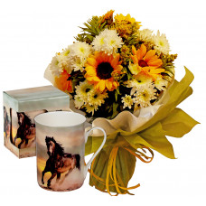 Sunny Days # 3 - Bouquet and Mug Horse Classic