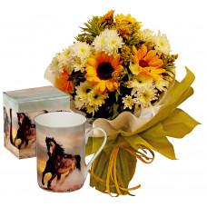 Sunny Days # 3 - Bouquet and Mug Horse Classic