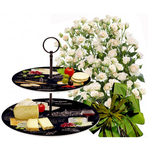 Olive # 2 - Roses and 2 Tier plates - World of Cheese