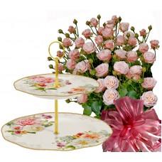 Alexa # 8 - Roses & 2 Tier Cake Plate