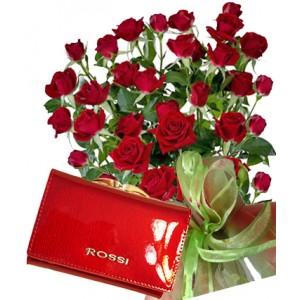 Saskia # 9 - Roses and Ladies purse ROSSI