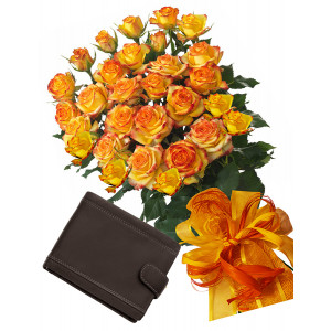 Alegra # 3 - Rose Bouquet  and Men's Wallet