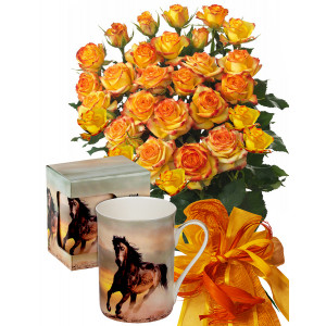 Alegra # 4 - Rose Bouquet  and Mug Horse