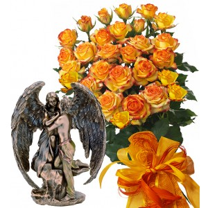 Alegra # 7 - Rose Bouquet  and Angel Statuette