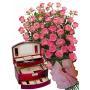 Geraldine # 8 - Roses and Jewelry Box Burgundy
