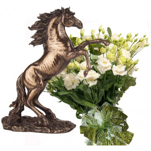 Sophia # 8 - Bouquet and  Stallion - Statute Veronese