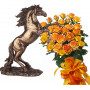 Alegra # 6 - Rose Bouquet  and Statuette Stallion