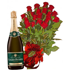 Red Roses and Fremch Champagne