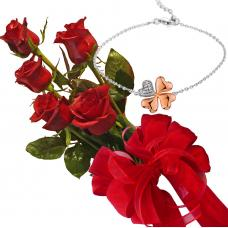 Bouquet of roses and bracelet Elis