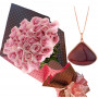 Bouquet of Roses and Necklace Esmeralda