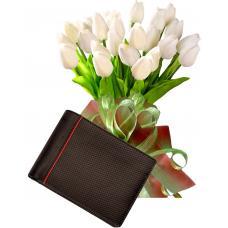 Bianca # 1 - Tulip bouquet and Men's Wallet