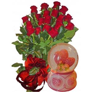 Моя нежна любов  - Рози и преспапие