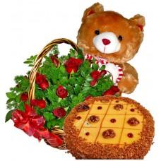 Шоколадови мечти - Рози, мече, торта