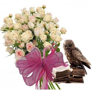 Уникален подарък - Рози и подарък