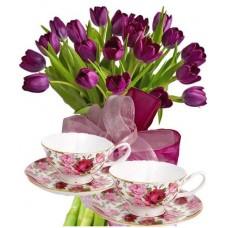 Агата # 1 - Цветя и Чаши за чай
