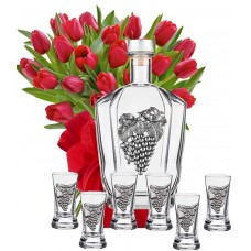 Моника # 1 - Цветя и Сервиз 6 чаши