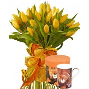 Жизел # 1 - Цветя и чаша с лъв