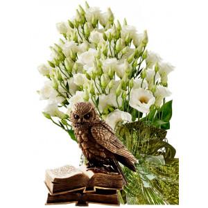 Sofia # 2 - Flowers & Eagle Owl