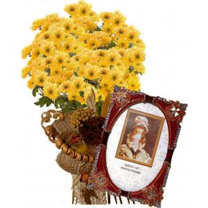 Бриана # 3 - Цветя и Фоторамка с инкрустации