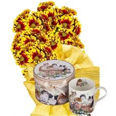 Ашли # 1 - Цветя и подарък