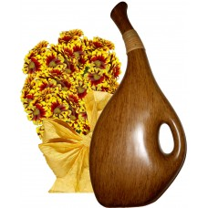 Ashley # 3 - Flowers and Drop Shape Vase