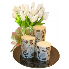 Bianca # 5 - Flowers & Candle Set