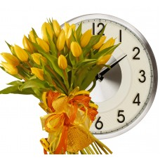 Giselle # 2 - Tulip bouquet & Wall Clock