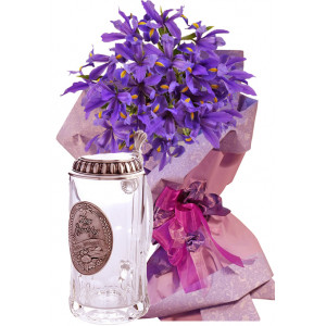 Irises # 3 - Irises bouquet and Beer stein