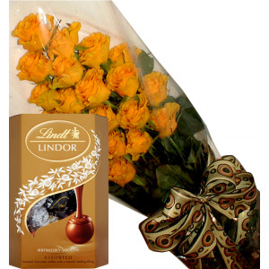 Thank you! - Yellow roses and chocolates
