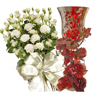 Олив # 2 - Спрей рози и свещник