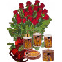 Red roses and Bath set