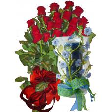 Романтичен подарък -  Червени рози и КОРИНТ