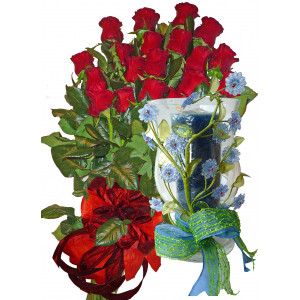 Romantic Gift - Roses and candlestick
