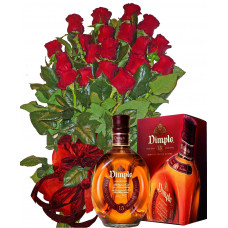 For someone special - roses, whiskey