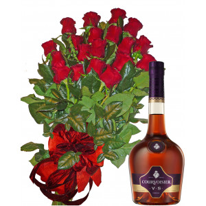 For a Special Day - Roses and Courvoisier VS Cognac